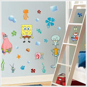 Spongebob Squarepants Peel and Stick Wall Stickers