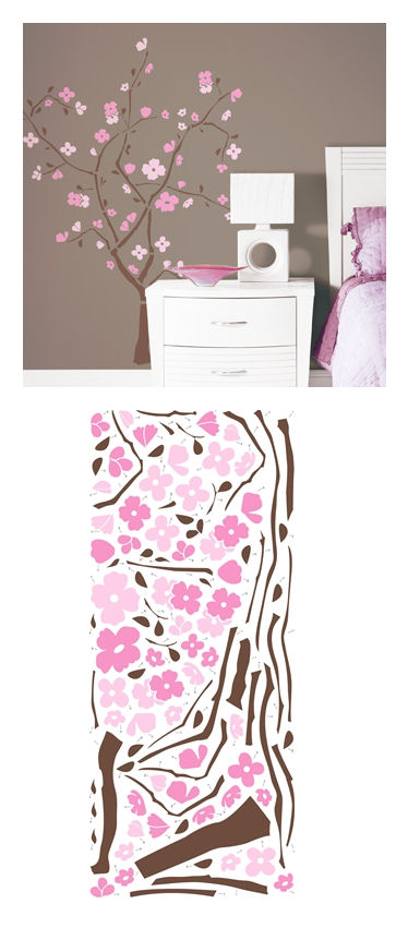 Spring Blossom Tree Giant Wall Decal - Wall Sticker Outlet