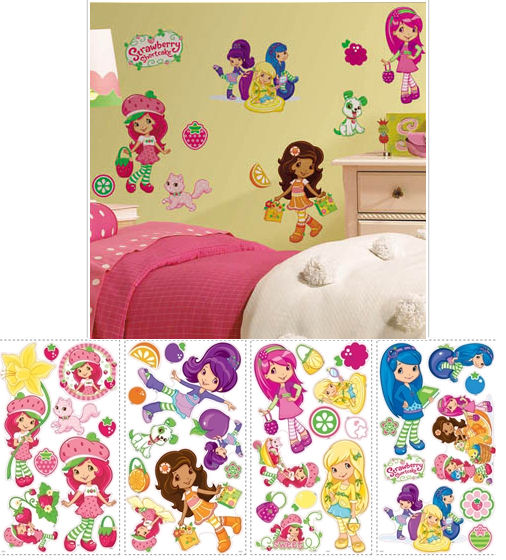 Strawberry Shortcake Peel and Stick Wall Stickers - Wall Sticker Outlet