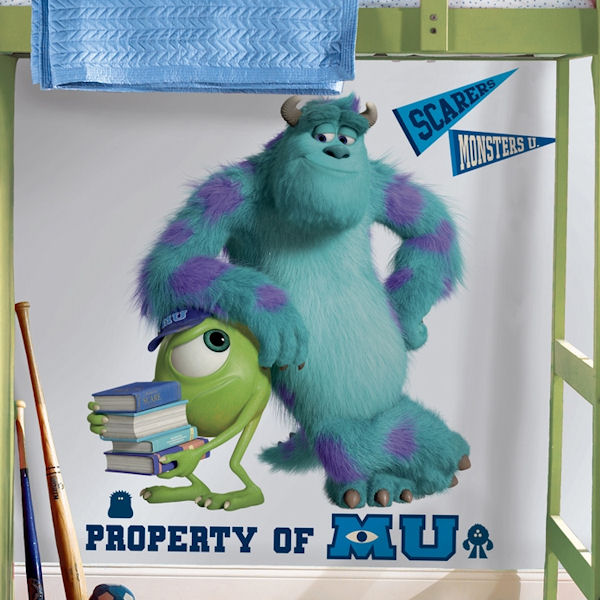 Monsters University Sulley & Mike Wall Decal SALE - Wall Sticker Outlet