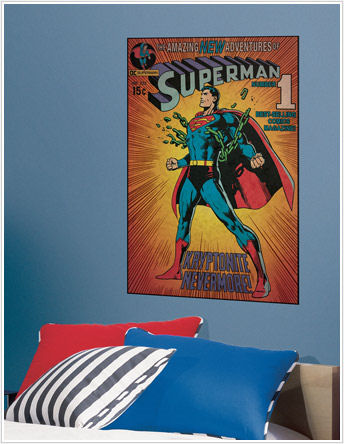Superman Kryptonite Comic Book Cover Sticker - Wall Sticker Outlet