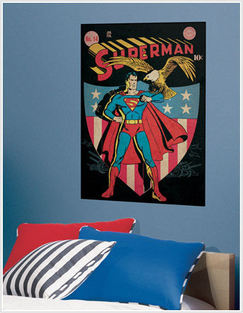 Superman Patriotic Comic Book Cover Sticker SALE - Wall Sticker Outlet