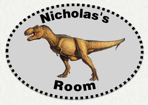 Dinosaur Trex Custom Name Wall Decal - Wall Sticker Outlet