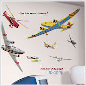 Take Flight Plane Mega Pack Wall Stickers