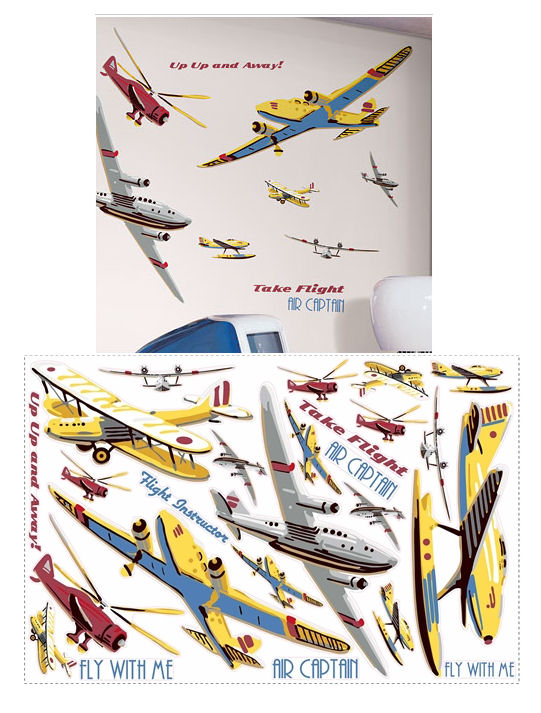 Take Flight Plane Mega Pack Wall Stickers - Wall Sticker Outlet