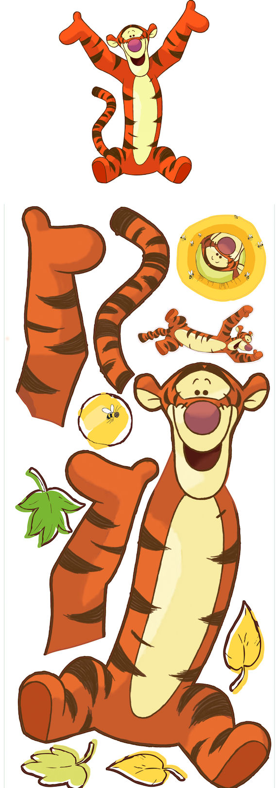 Tigger Giant Peel and Stick Wall Mural - Wall Sticker Outlet