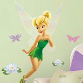 Tinker Bell  Glitter Giant Wall Sticker