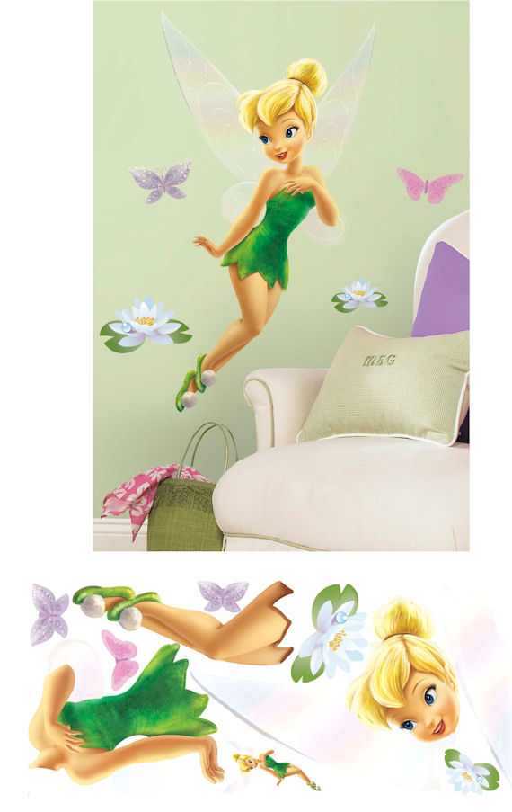 Tinker Bell  Glitter Giant Wall Sticker - Wall Sticker Outlet
