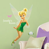Disney Tinker Bell Personalized Giant Sticker