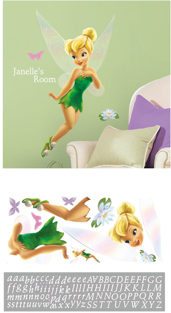 Disney Tinker Bell Personalized Giant Sticker - Wall Sticker Outlet