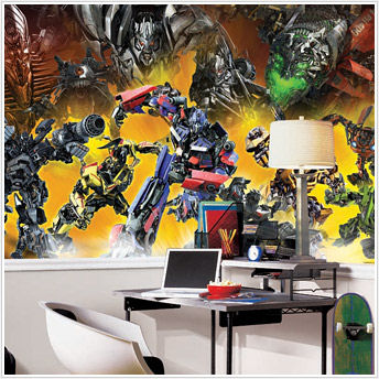 transformers giant xl wall mural 6 x 10 feet