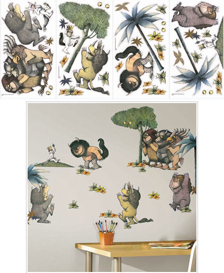 where the wild things are peel and stick appliques. Black Bedroom Furniture Sets. Home Design Ideas