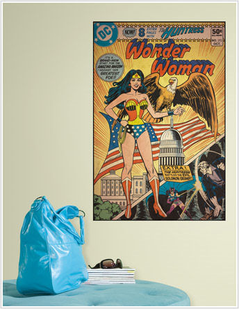 Wonder Woman Comic Book Cover Sticker  - Wall Sticker Outlet