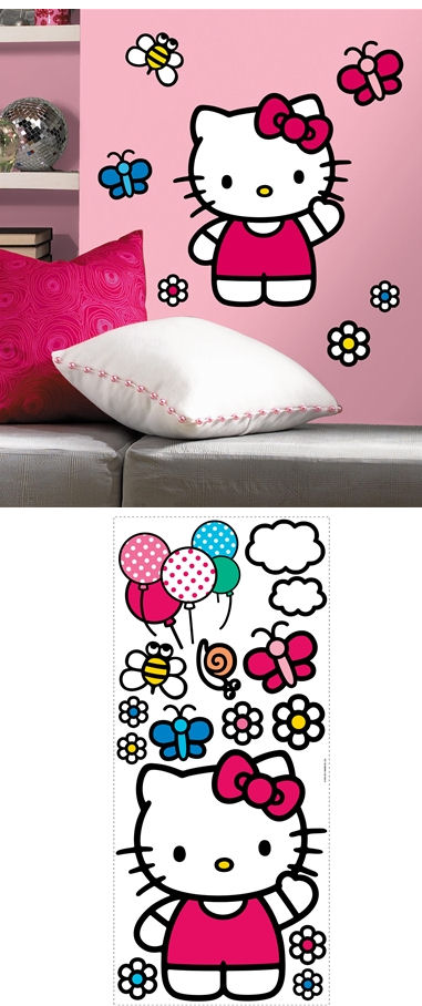 World of Hello Kitty Giant Wall Sticker - Wall Sticker Outlet