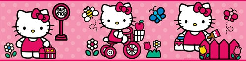 World of Hello Kitty Peel and Stick Wall Border - Wall Sticker Outlet