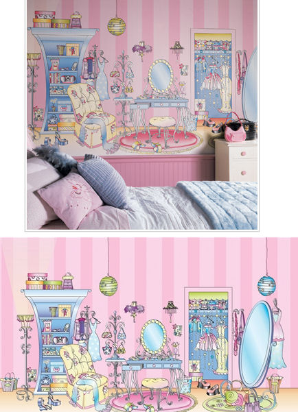 Dressing Room XL Wall Mural - Wall Sticker Outlet
