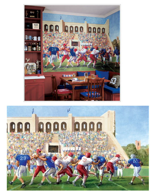 football stadium xl wall mural kids wall decor store. Black Bedroom Furniture Sets. Home Design Ideas