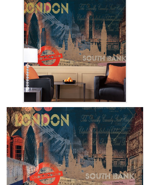 Streets of London  XL Wall Mural - Wall Sticker Outlet