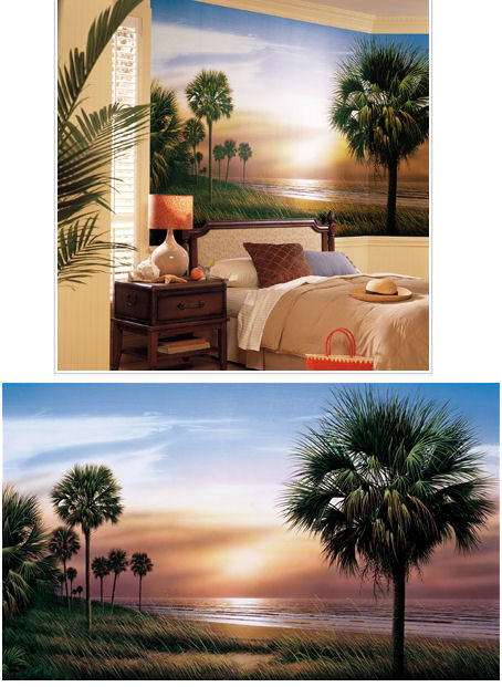 Palm Trees  XL Wall Mural - Kids Wall Decor Store