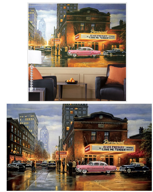 Evening at The Paramount XL Wall Mural - Wall Sticker Outlet