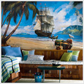 Pirate Ship XL Wall Mural