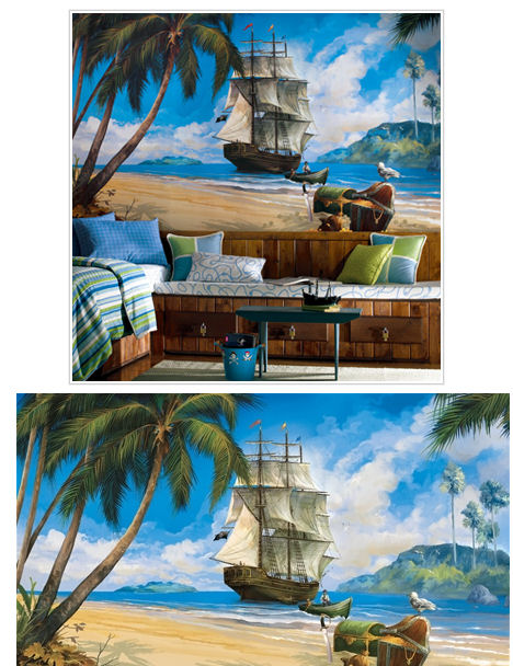 Pirate Ship XL Wall Mural - Wall Sticker Outlet