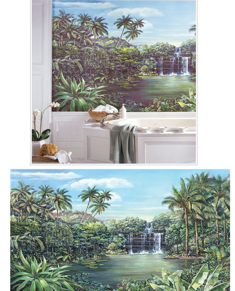 Tropical Lagoon XL Wall Mural - Kids Wall Decor Store