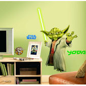 Star Wars Yoda Peel and Stick Giant Wall Sticker