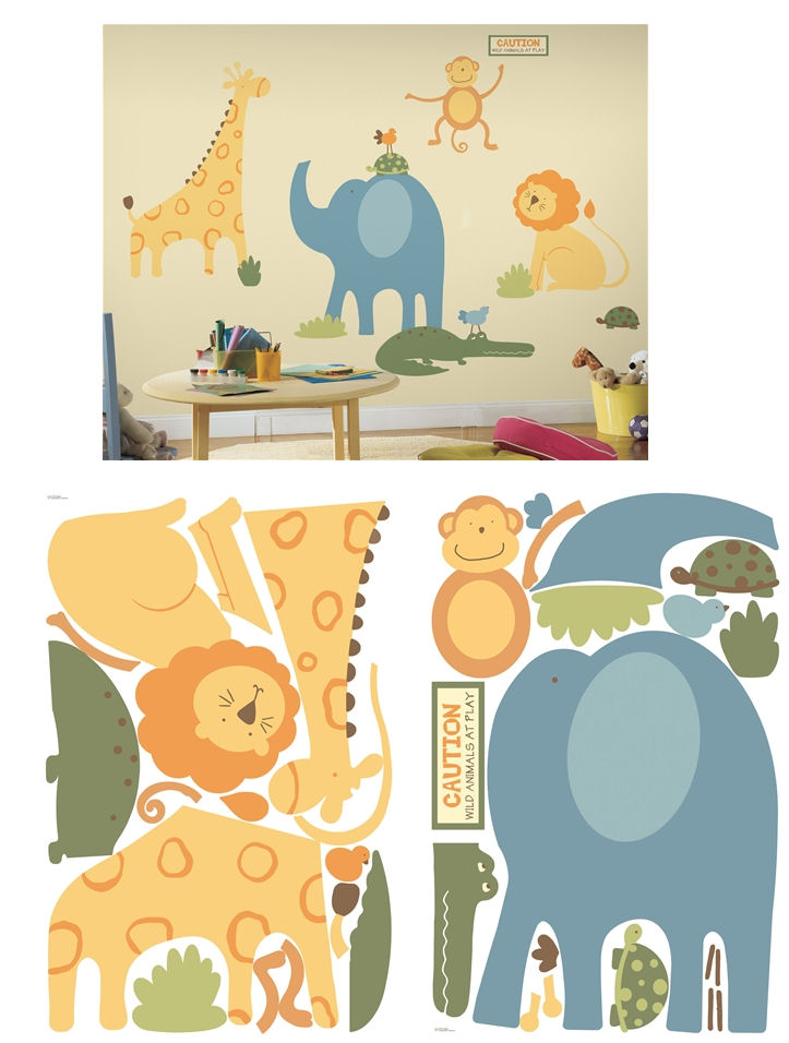 Zoo Animals Mega Pack Wall Stickers - Wall Sticker Outlet