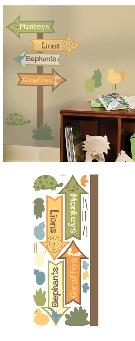 Zoo Signs Giant Wall Stickers - Wall Sticker Outlet