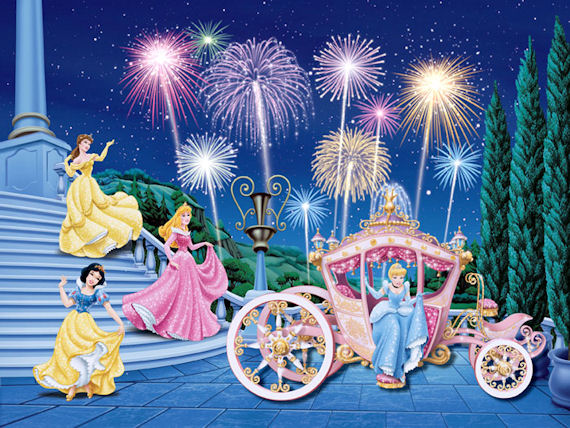 Disney princess royal celebration large mural sale for Disney princess ballroom wall mural