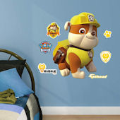 Fathead Paw Patrol Rubble Jr Wall Decal