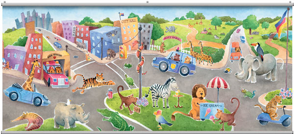 Safari Friends Minute Mural - Wall Sticker Outlet