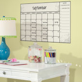 Large Scroll Dry Erase Peel and Stick Calendar