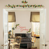 Seasons Greetings Wall Quote with Ivy Decals