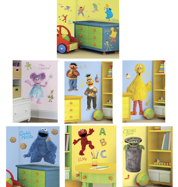 sesame street nursery decor thenurseries. Black Bedroom Furniture Sets. Home Design Ideas