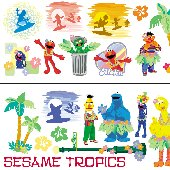 Sesame Street Tahiti Easy Up Wall Appliques