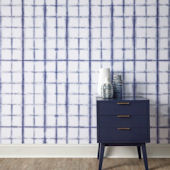 Shibori Indigo Peel And Stick Wallpaper