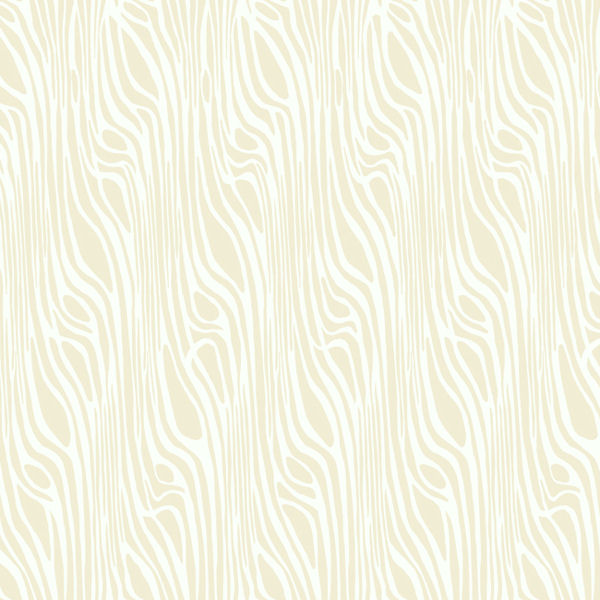 Beige and White Vertical Half Squiggle Wallpaper