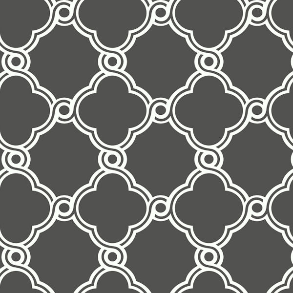White with dark grey open trellis wallpaper for Black and grey wallpaper designs