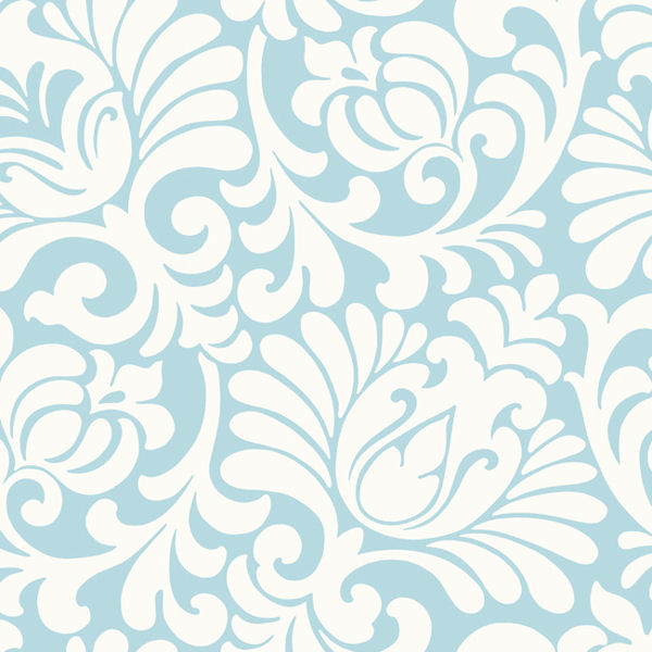 Light blue tulip damask wallpaper - Wall wallpaper designs ...