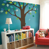 Simple Shapes Ceiling Tree Patterned Leaves Decals