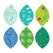 Simple Shapes Summer Leaves Peel and Stick Decals