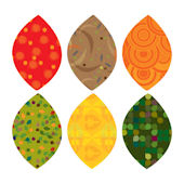 Simple Shapes Fall Leaves Peel and Stick Decals