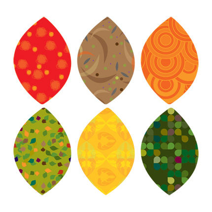Simple Shapes Fall Leaves Peel and Stick Decals - Wall Sticker Outlet