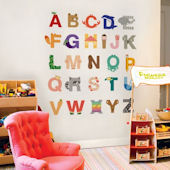 Animal Alphabet Fabric Peel Stick Decals