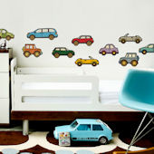 Cars Fabric Peel and Stick Decals