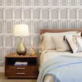 Classic Architecture Beige Peel Stick Wallpaper