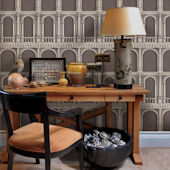 Classic Architecture Brown Peel Stick Wallpaper