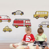Emergency Service Vehicle Fabric Peel Stick Decals